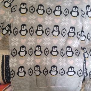 Girls penguin sweater